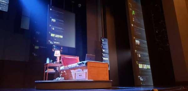 Music Box Theatre, sección: Orchestra C, fila: B, asiento: 108