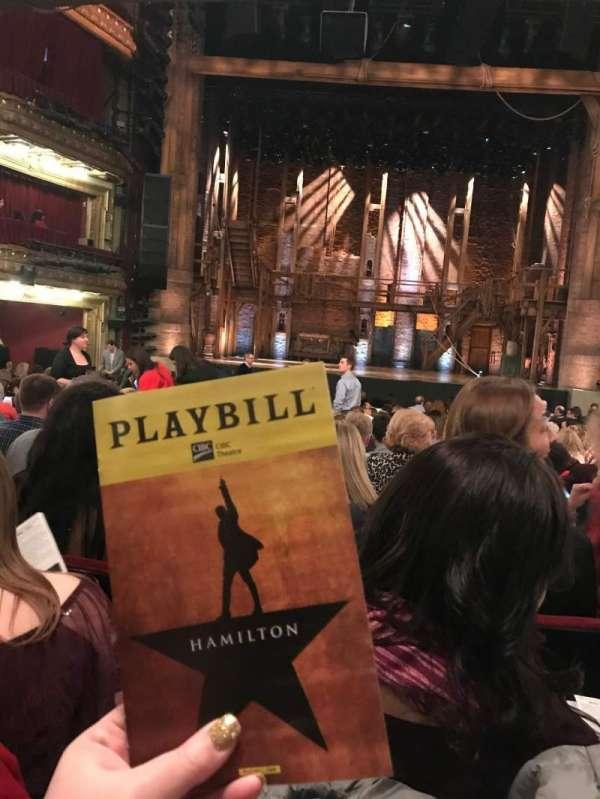 CIBC Theatre, sección: ORCH C, fila: V, asiento: 107