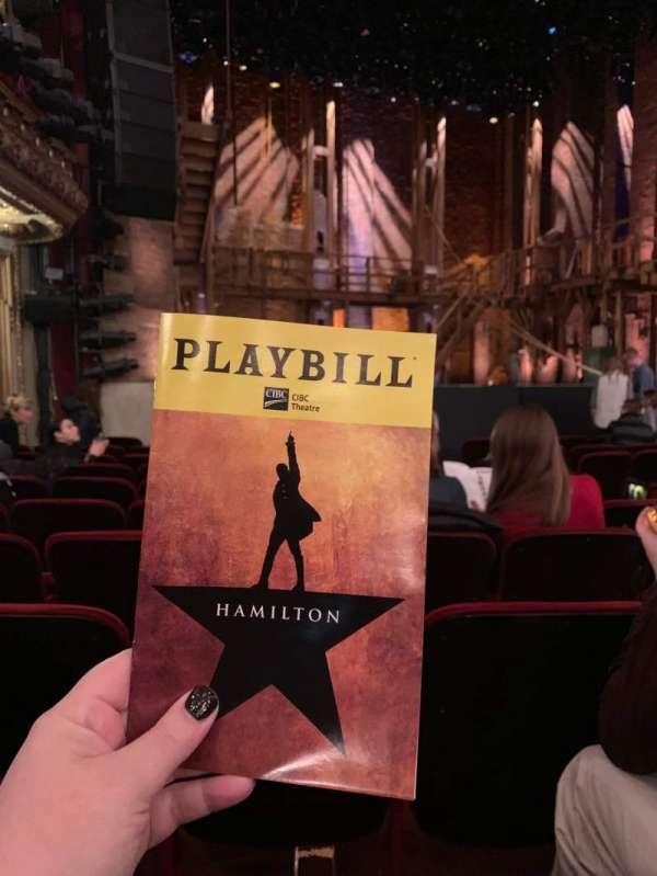 CIBC Theatre, sección: Orchestra L, fila: L, asiento: 9