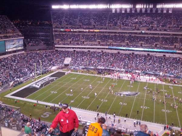 Lincoln Financial Field, sección: 202, fila: 11, asiento: 26