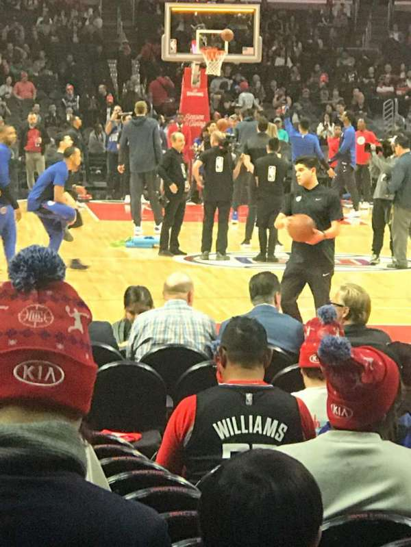 Staples Center, sección: 116, fila: 3, asiento: 7