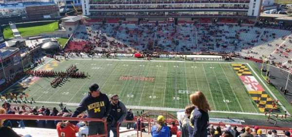 Maryland Stadium, sección: 308, fila: Z, asiento: 2