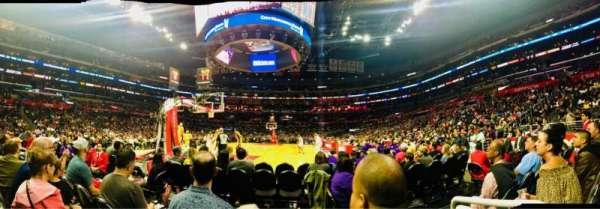 Staples Center, sección: 106, fila: D, asiento: 1