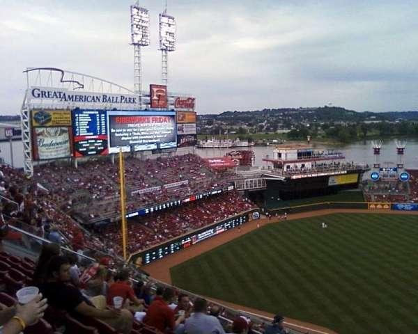 Great American Ball Park, sección: 516, fila: 1, asiento: 4
