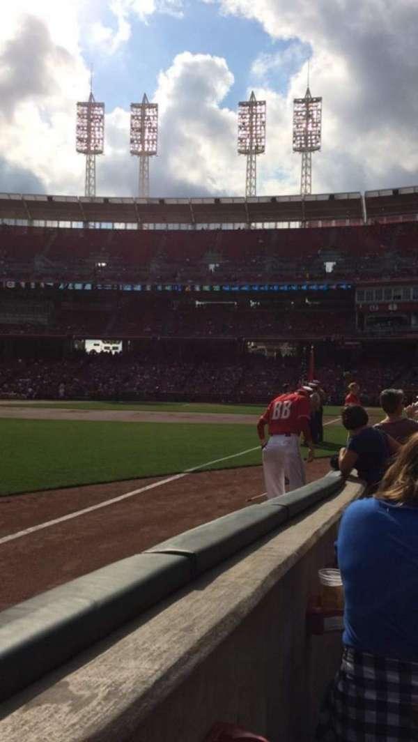 Great American Ball Park, sección: 111, fila: D, asiento: 17