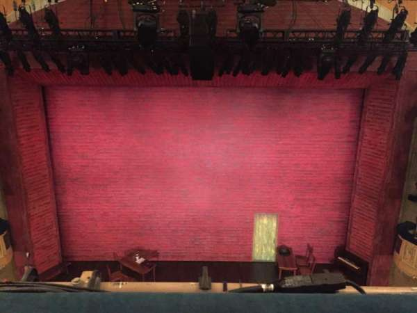 Shubert Theatre, sección: Balcony Center, fila: A, asiento: 107