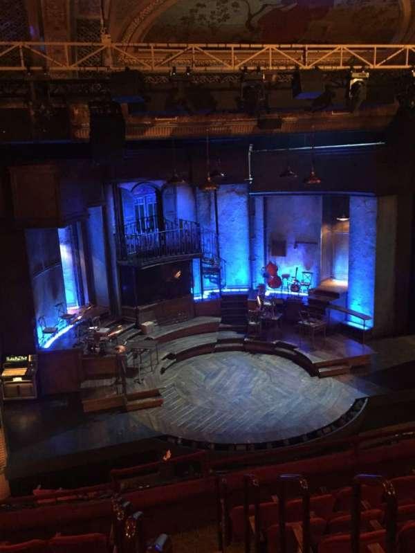 Walter Kerr Theatre, sección: Mezzanine L, fila: G, asiento: 1