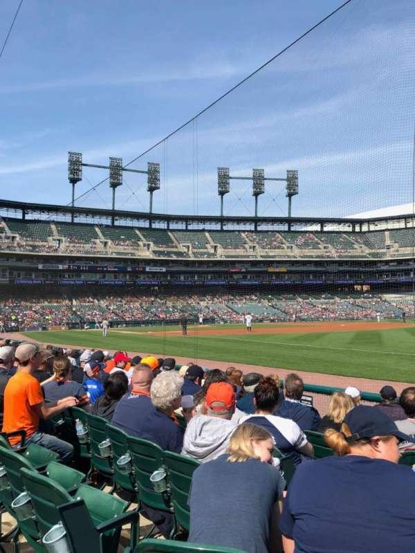 Comerica Park, sección: 114, fila: 8, asiento: 13