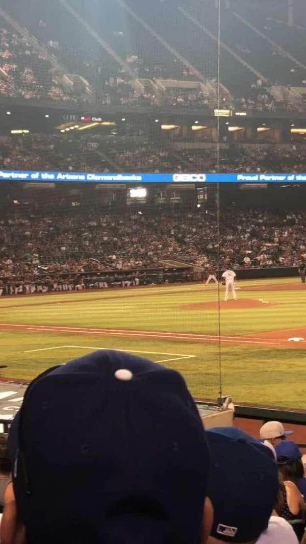 Chase Field, sección: 114, fila: 14, asiento: 3