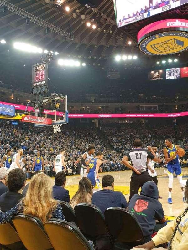 Oakland Arena, sección: 5, fila: A2, asiento: 7