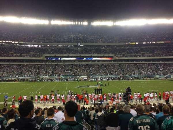 Lincoln Financial Field, sección: 119, fila: 23, asiento: 1