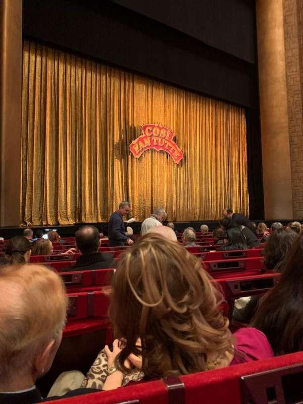 Metropolitan Opera House - Lincoln Center, sección: ORCH, fila: I, asiento: 19