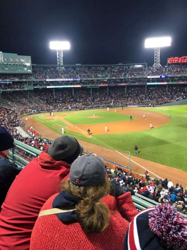 Fenway Park, sección: Right Field Roof Deck Box 25, fila: B, asiento: 1
