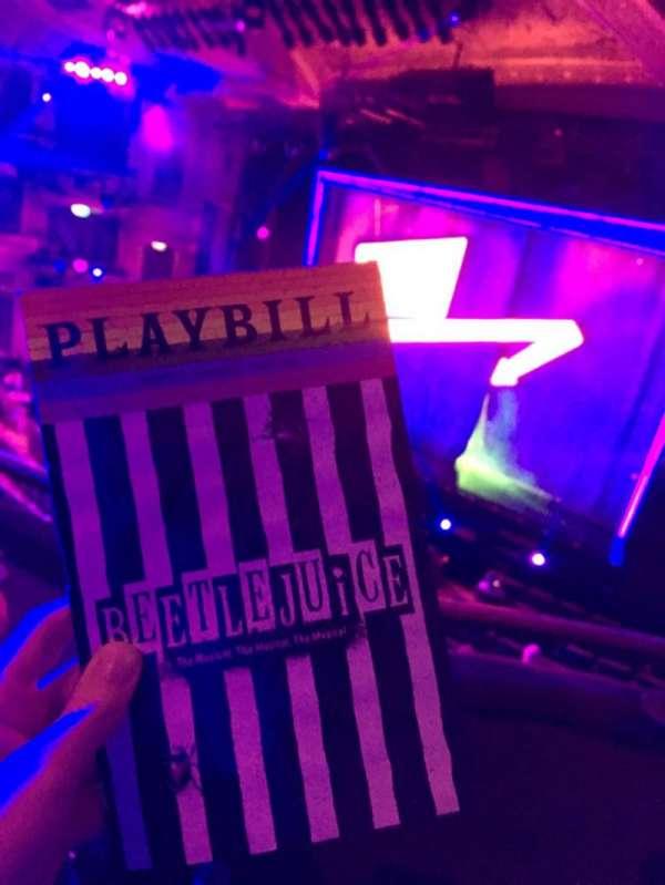 Winter Garden Theatre, sección: Mezzanine R, fila: B, asiento: 8, 10