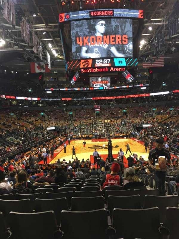 Scotiabank Arena, sección: 103, fila: 15, asiento: 3