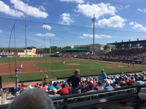 Roger Dean Chevrolet Stadium, sección: 212, fila: B, asiento: 9