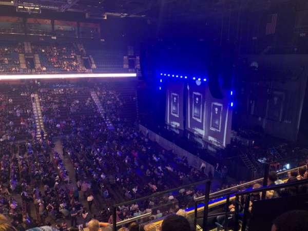 Mohegan Sun Arena, sección: 107, fila: F, asiento: 4