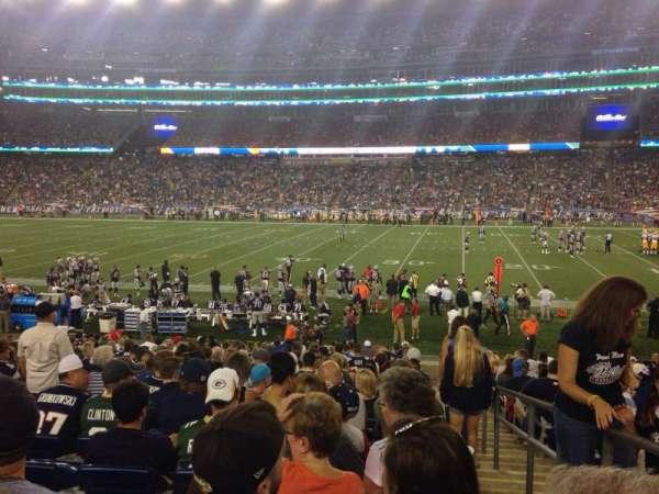 Gillette Stadium, sección: 108, fila: 20, asiento: 1