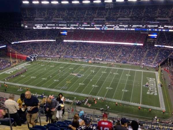 Gillette Stadium, sección: 328, fila: 16, asiento: 20