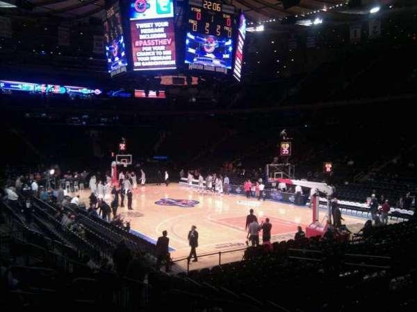 Madison Square Garden, sección: 120, fila: 9, asiento: 10