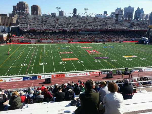 Percival Molson Memorial Stadium, sección: i2, fila: 10, asiento: 18