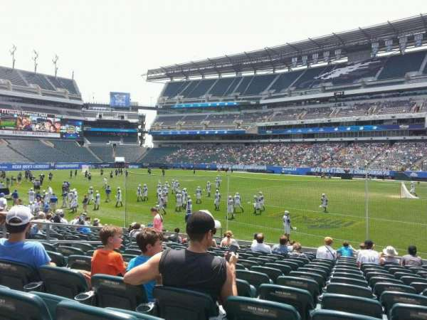 Lincoln Financial Field, sección: 124, fila: 15, asiento: 18