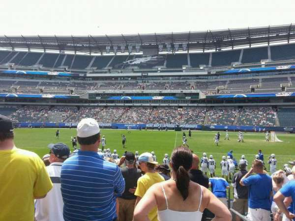 Lincoln Financial Field, sección: 122, fila: 9, asiento: 1