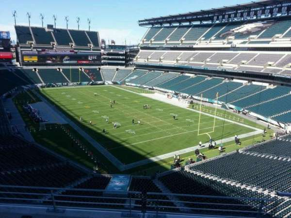 Lincoln Financial Field, sección: m8, fila: 16, asiento: 7