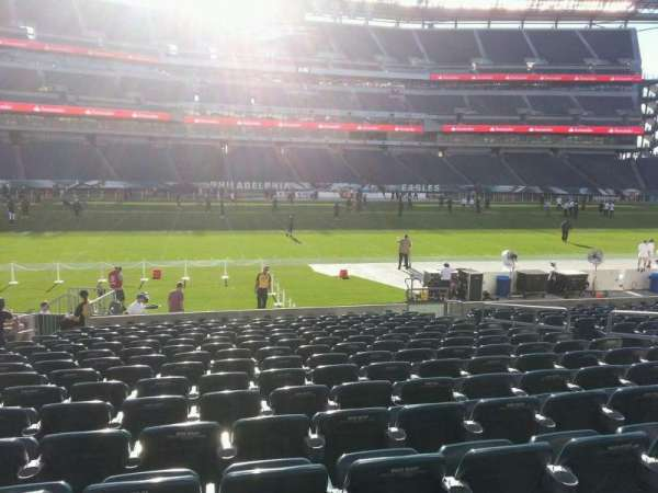 Lincoln Financial Field, sección: 118, fila: 15, asiento: 11