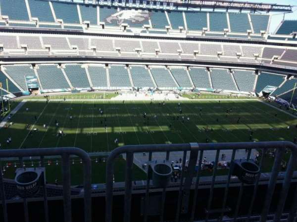 Lincoln Financial Field, sección: 243, fila: aca, asiento: 6