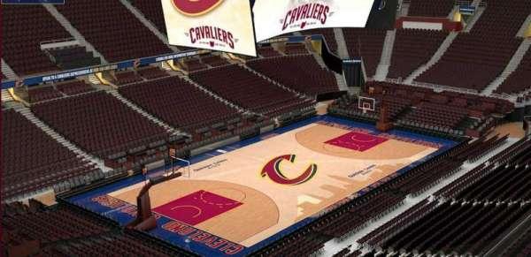 Quicken Loans Arena, sección: 204, fila: 3