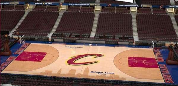 Quicken Loans Arena, sección: 209, fila: 3