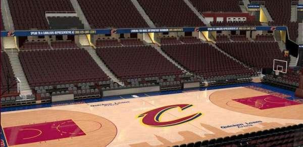 Quicken Loans Arena, sección: C107, fila: 20