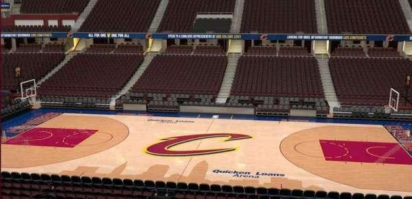 Quicken Loans Arena, sección: C109