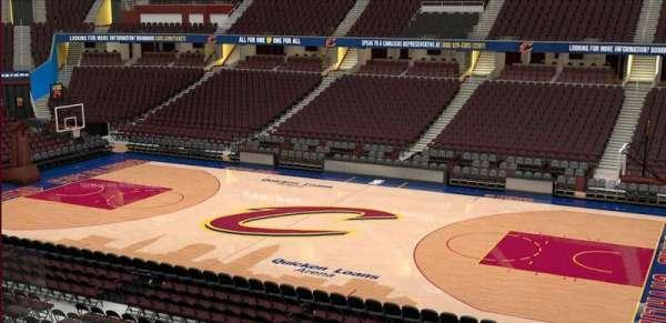 Quicken Loans Arena, sección: C110, fila: 20