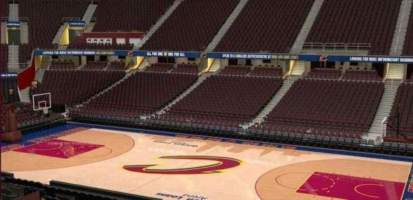Quicken Loans Arena, sección: C127, fila: 20