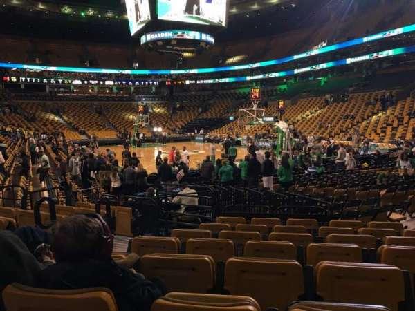 TD Garden, sección: Loge 8, fila: 8, asiento: 3