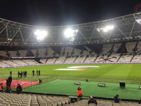London Stadium, sección: 112, fila: 18