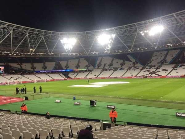 London Stadium, sección: 113, fila: 20
