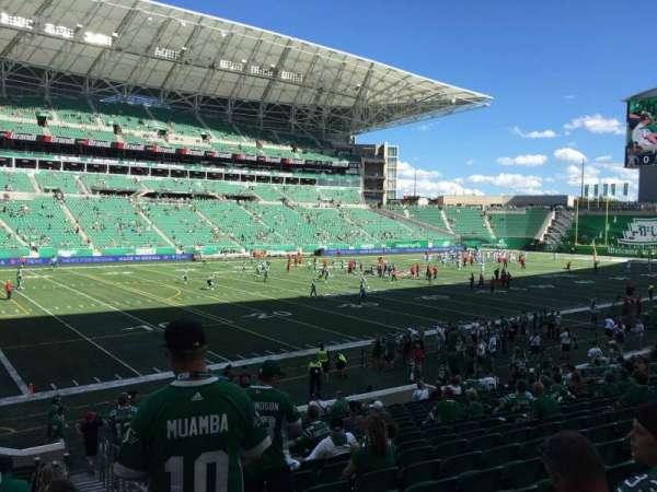 Mosaic Stadium, sección: 119, fila: 19, asiento: 1