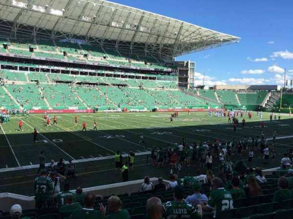 Mosaic Stadium, sección: 118, fila: 14, asiento: 16