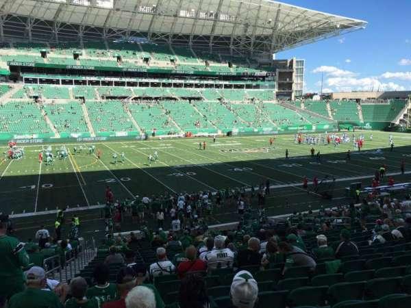 Mosaic Stadium, sección: 117, fila: 22, asiento: 22