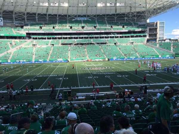 Mosaic Stadium, sección: 115, fila: 24, asiento: 19