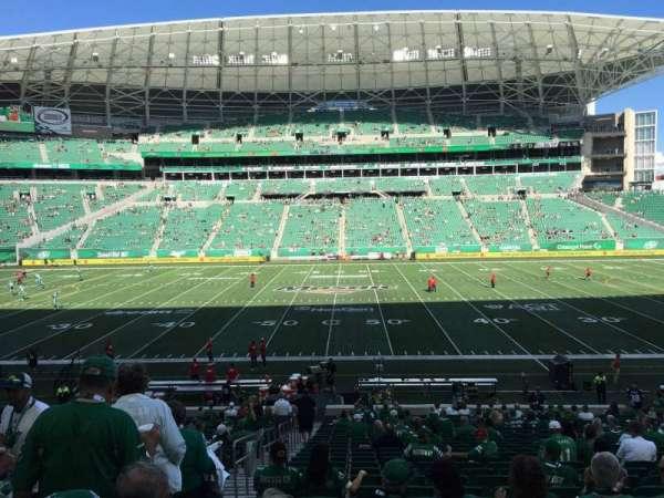 Mosaic Stadium, sección: 114, fila: 28, asiento: 21