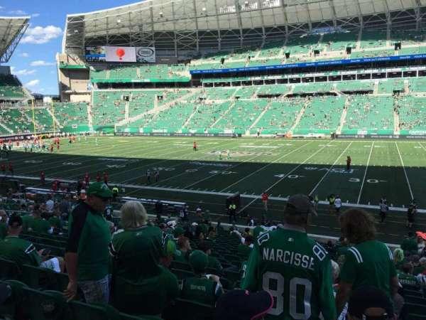 Mosaic Stadium, sección: 113, fila: 24, asiento: 4