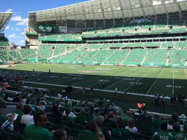 Mosaic Stadium, sección: 112, fila: 21, asiento: 16