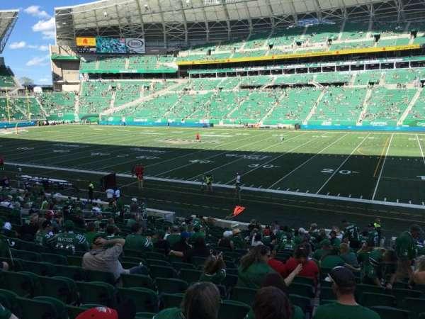 Mosaic Stadium, sección: 112, fila: 23, asiento: 4