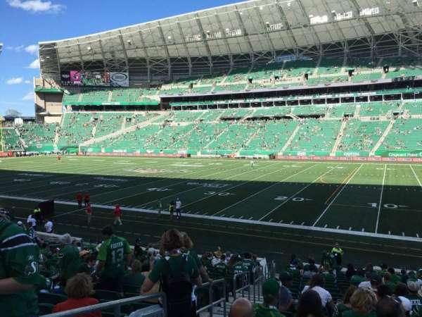 Mosaic Stadium, sección: 111, fila: 20, asiento: 26