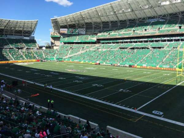 Mosaic Stadium, sección: 109, fila: 17, asiento: 11