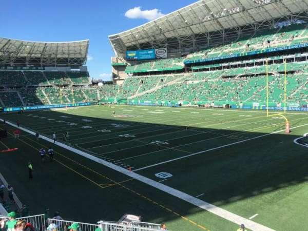 Mosaic Stadium, sección: 107, fila: 12, asiento: 4